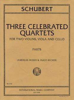 Franz Schubert - 3 Celebrated Quartets –Parts - Partition - di-arezzo.fr