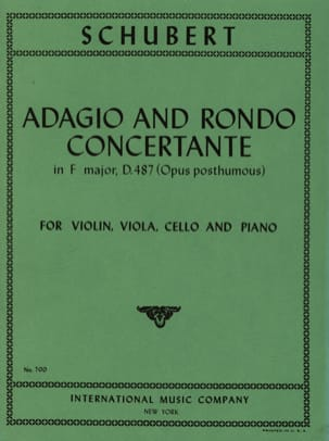 SCHUBERT - Adagio and Rondo concertant D. 487 - Parts - Sheet Music - di-arezzo.co.uk