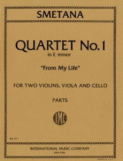 Quartet n° 1 E minor From my life – Parts - laflutedepan.com