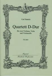 Quartett D-Dur -Stimmen + Partitur STAMITZ Partition laflutedepan