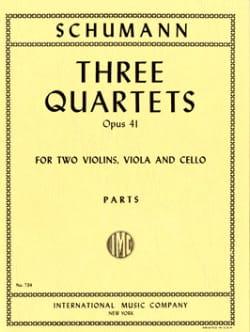 3 Quartets op. 41 - Parts SCHUMANN Partition Quatuors - laflutedepan