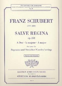 Franz Schubert - Salve Regina op. 153 A-Dur –Partitur + Stimmen - Partition - di-arezzo.fr