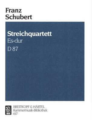 Franz Schubert - Streichquartett Es-Dur D. 87 op. posth. 125 Nr. 1 –Stimmen - Partition - di-arezzo.fr