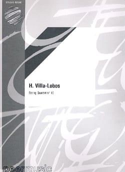Quatuor à cordes n° 10 - Parties VILLA-LOBOS Partition laflutedepan