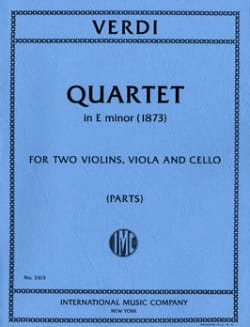 VERDI - Quartet in E minor - Parts - Sheet Music - di-arezzo.co.uk