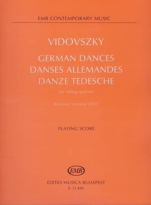 Danses allemandes -Partitur + Stimmen - laflutedepan.com