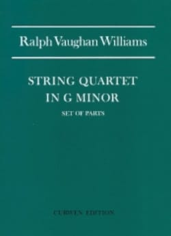 Williams Ralph Vaughan - String Quartet N° 1 In G Minor - Parts - Partition - di-arezzo.fr