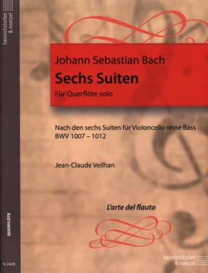 BACH - 6 Transcribed Suites For Flute Alone Bwv 1007-1012 - Sheet Music - di-arezzo.co.uk