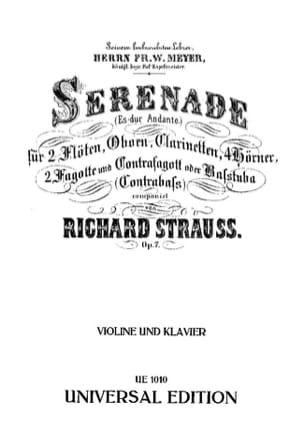 Richard Strauss - Serenade Es-Dur Andante op. 7 - Violine - Sheet Music - di-arezzo.com