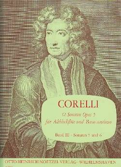 CORELLI - 12 Sonaten op. 5 - Bd. 3 - Altblockflöte u. Bc - Sheet Music - di-arezzo.co.uk