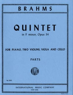 Quintet in F minor op. 34 – Parts - BRAHMS - laflutedepan.com