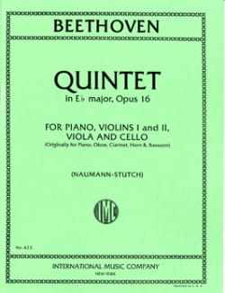 BEETHOVEN - Quintet in Eb major op. 16 - Parts - Partition - di-arezzo.fr