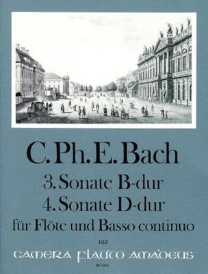 Sonaten Nr. 3 B-Dur u. Nr. 4 D-Dur - Flöte u. Bc - laflutedepan.com