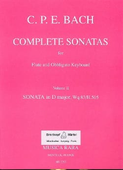 Complete sonatas - Volume 2 - Flute obblig. keyboard laflutedepan
