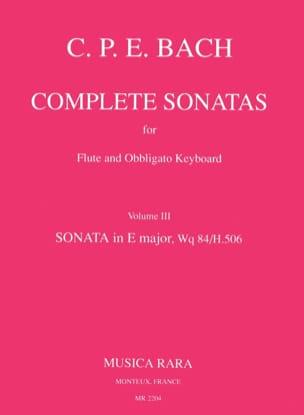 Carl Philipp Emanuel Bach - Complete sonatas - Volume 3 - Obblig flute. keyboard - Sheet Music - di-arezzo.co.uk