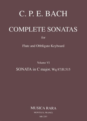 Carl Philipp Emanuel Bach - Complete sonatas - Volume 6 - Flute Harpsichord (Out of stock) - Sheet Music - di-arezzo.co.uk