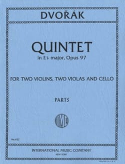 Quintet in E flat major op. 97 - Parts DVORAK Partition laflutedepan