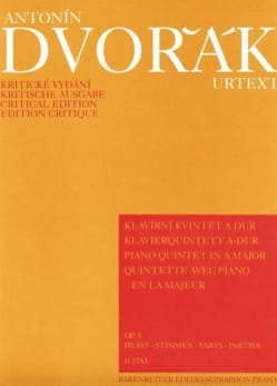 Klavierquintett in A-Dur op. 5 -Stimmen DVORAK Partition laflutedepan