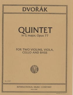 Quintet in G major op. 77 - Parts - DVORAK - laflutedepan.com