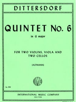 Carl Ditters von Dittersdorf - Quintet n° 6 in G major - Score + Parts - Partition - di-arezzo.fr