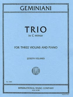 Trio in C minor - 3 Violins piano - Parts - laflutedepan.com