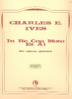 In Re con Moto et Al - Piano quintet - Score + Parts IVES laflutedepan
