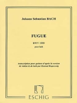 BACH - Fugue pour Luth BWV 1000 - Guitare - Partition - di-arezzo.fr