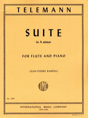 Suite in A minor - Flute piano TELEMANN Partition laflutedepan