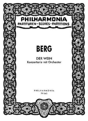 Der Wein - Partitur - BERG - Partition - laflutedepan.com