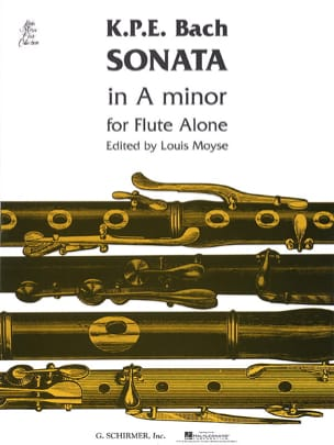 Carl Philipp Emanuel Bach - Sonata A minor – Flute solo - Partition - di-arezzo.fr