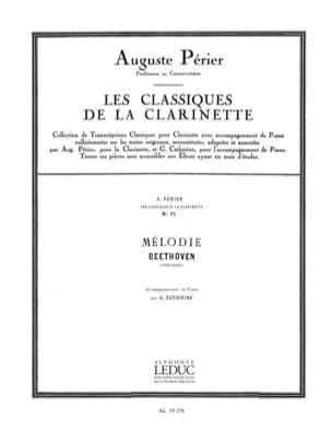 Mélodie Beethoven Ludwig van / Perier A. Partition laflutedepan