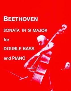 Sonata in G major - Double bass BEETHOVEN Partition laflutedepan