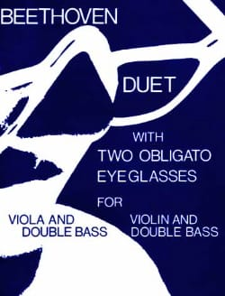 Duet With Two Obligato Eyeglasses BEETHOVEN Partition 0 - laflutedepan