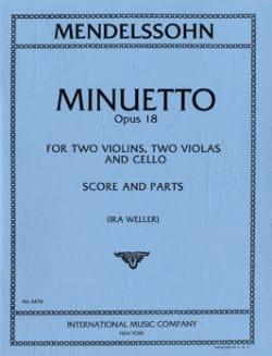 Minuetto op. 18 -Score + Parts MENDELSSOHN Partition laflutedepan