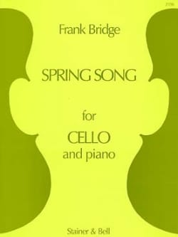 Spring Song Frank Bridge Partition Violoncelle - laflutedepan
