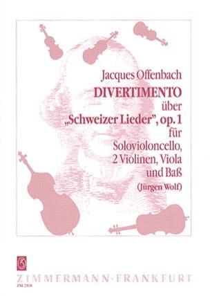 Divertimento op. 1 -Violonc. solo 2 Violinen Viola Bass -Partitur + Stimmen laflutedepan