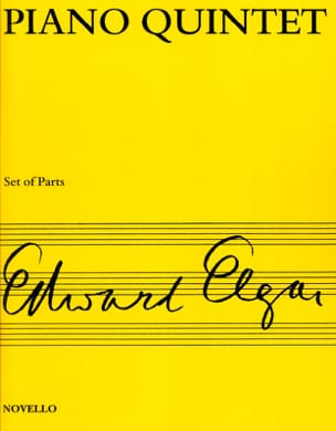 Edward Elgar - Piano quintet op. 84 - Score + Parts - Partition - di-arezzo.fr