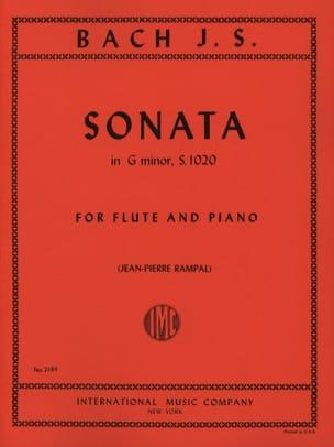 BACH - Sonata G menor BWV 1020 - flauta de piano - Partitura - di-arezzo.es