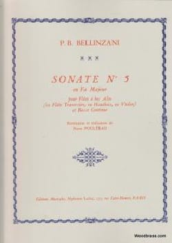 Bellinzani Paolo Benedetto / poulteau - Sonata No. 5 In F Major - Sheet Music - di-arezzo.com