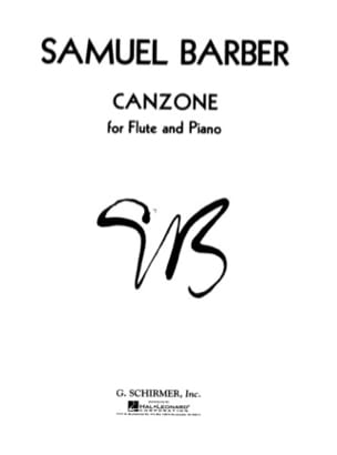 Canzone BARBER Partition Flûte traversière - laflutedepan