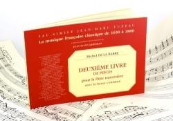 Michel de la Barre - 2nd Book of Pieces - Flute and Bc Fac Similé - Sheet Music - di-arezzo.com