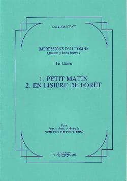 Bernard Malait - Impressions d'automne – 1° Cahier - Partition - di-arezzo.fr
