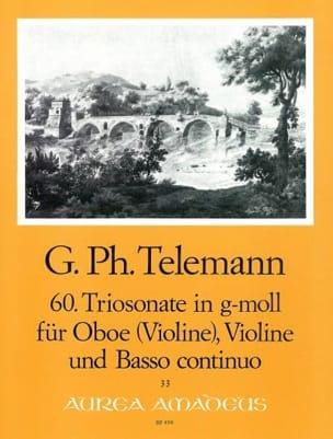 Georg Philipp Telemann - Triosonate Nr. 60 in g-moll –Oboe Violine Bc - Partition - di-arezzo.fr