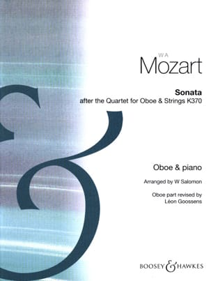 MOZART - Sonata after Quartet for oboe and strings - Oboe piano - Partition - di-arezzo.fr