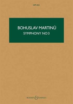 Symphonie n° 3 – Score - Bohuslav Martinu - laflutedepan.com