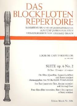 Suite op. 6 n° 2 en ré majeur d'Hervelois Louis de Caix laflutedepan