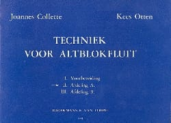 Collette Joannes / Otten Kees - Techniek voor Altblokfluit – Volume 2 - Partition - di-arezzo.fr