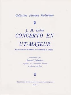 Jean-Marie Leclair - Concerto in C Major, Op. 7 N ° 3 - Flute and Piano - Sheet Music - di-arezzo.com