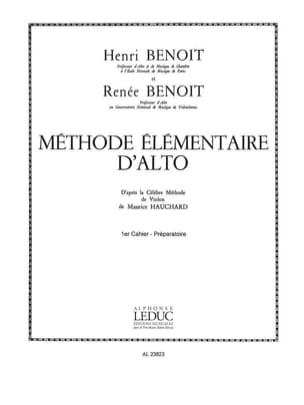 Benoit Henri / Benoit Renée - Alto Volume Elemental Method 1 - Partition - di-arezzo.co.uk