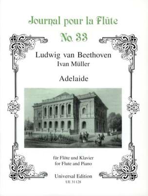 Adelaide - Flöte Klavier - BEETHOVEN - Partition - laflutedepan.com